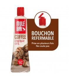 Gel Mulebar café avec bouchon refermable à clapet