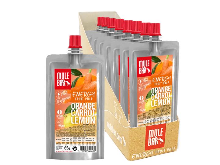 Boîte 10 Pulpes de Fruits Orange Carotte Citron
