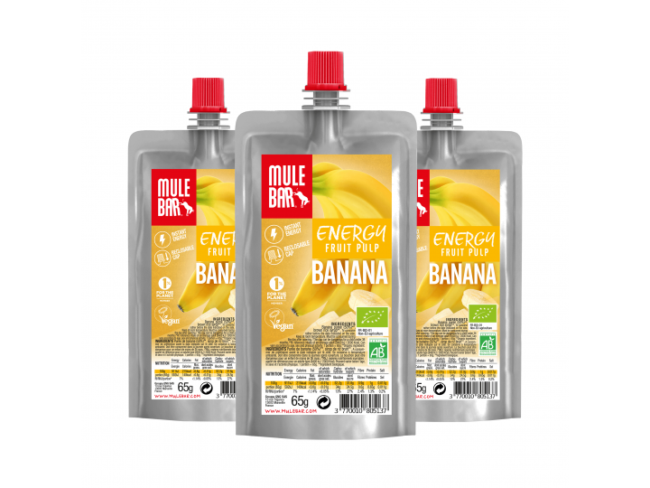 Mulebar organic and plant based Banana puree