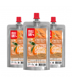 Mulebar organic and plant based Sweet Potato Carrot and Orange puree
