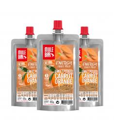 Lot de 3 pulpes Patate Douce Orange Carotte Mulebar