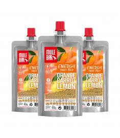 Lot de 3 pulpes Orange Carotte Citron Mulebar