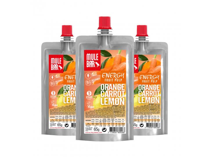 Mulebar organic and plant based Orange Carrot and Lemon puree