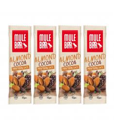 Lot de 4 barres protéinées Amande Cacao