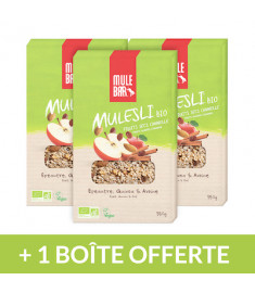 3 Boîtes Mulesli Pomme Cannelle