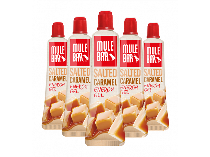 Lot de 5 gels Caramel salé Mulebar