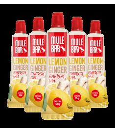 Lot de 5 nouveaux gels énergétiques citron gingembre