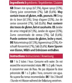 Ingrédients recharge de gel Mulebar Cerise