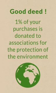 1% of your purchases donated to environment