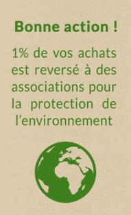 1% de vos achats reversé à l'environnement